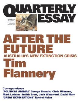 Quarterly Essay 48: After the Future