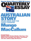 Quarterly Essay 36, Australian Story: Kevin Rudd and the Lucky Country